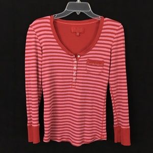 Victoria's Secret Sweater Shirt PS Pink Red Stripe
